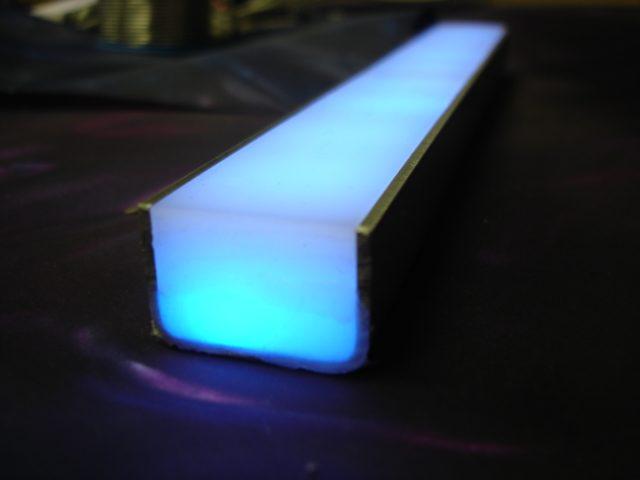 led lichtschienen f r stufenbeleuchtung aus. Black Bedroom Furniture Sets. Home Design Ideas