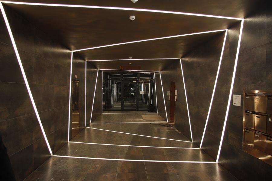 leuchtfolie leds led technik rgb led stufenbeleuchtung treppenstufenbeleuchtung. Black Bedroom Furniture Sets. Home Design Ideas